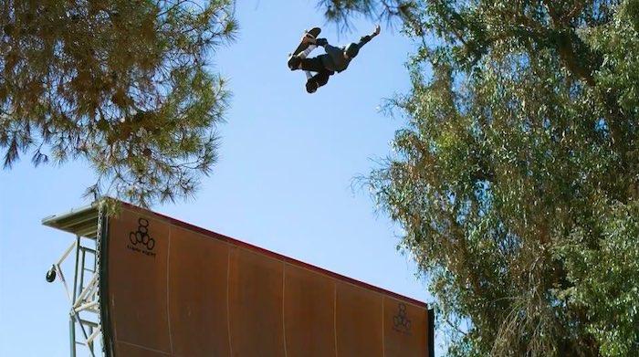 Tony Hawk performing a trick