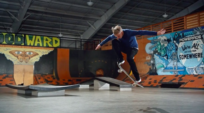 Tony Hawk performing an Ollie in his MasterClass