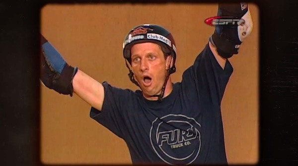 Tony Hawk reliving landing the 900 in his MasterClass
