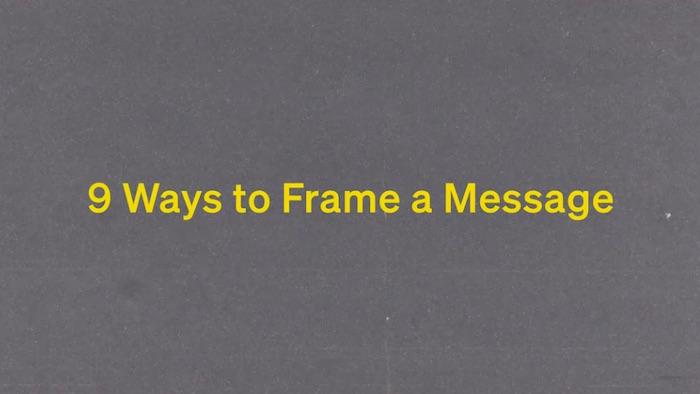 Daniel Pink teaching sales frames