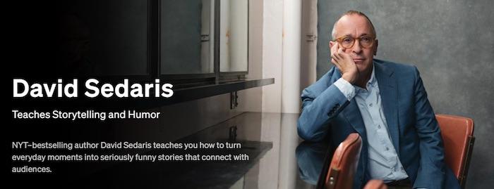 David Sedaris Teaches Storytelling and Humour