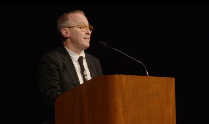 David Sedaris performing comedy