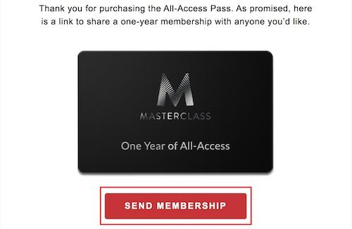 MasterClass Black Friday gift