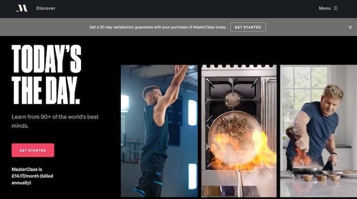 MasterClass homepage