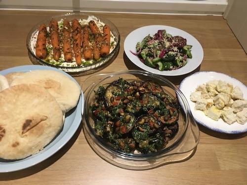 Me cooking Yotam Ottolenghi recipes