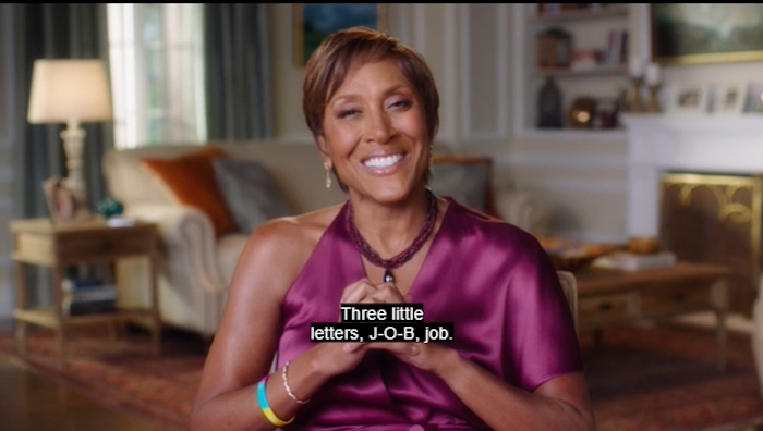 Robin Roberts giving job interview advice in her MasterClass