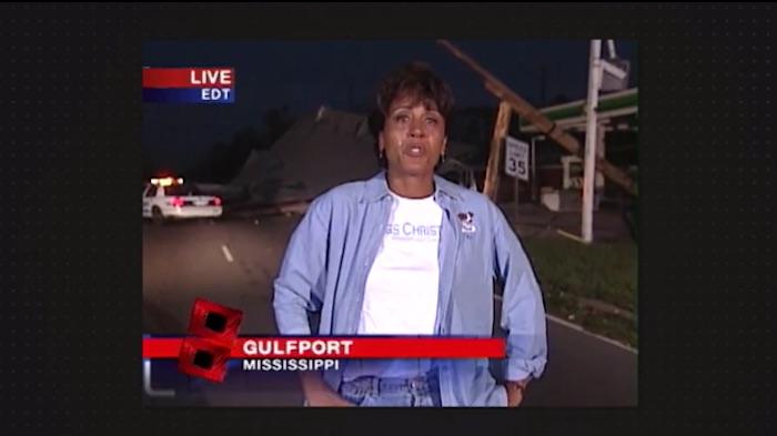 Robin Roberts reporting for Hurricane Katrina