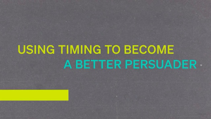 Using timing to become a better persuader