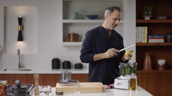 Yotam Ottolenghi cooking in his MasterClass
