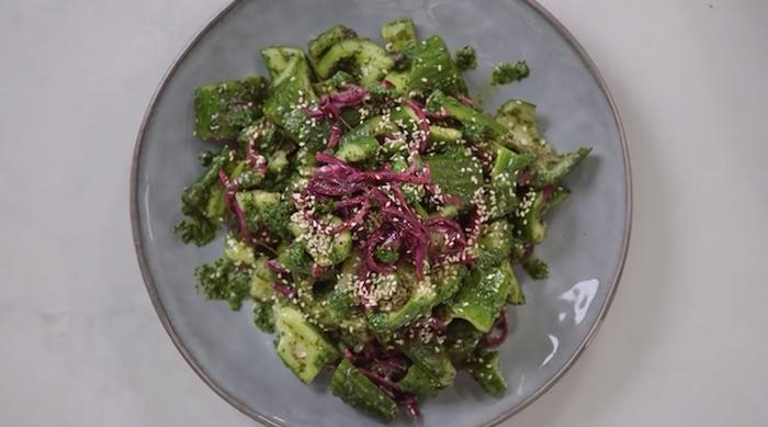 Yotam Ottolenghi smacked cucumber salad