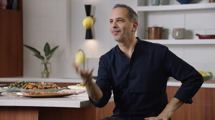 Yotam Ottolenghi teaching his MasterClass
