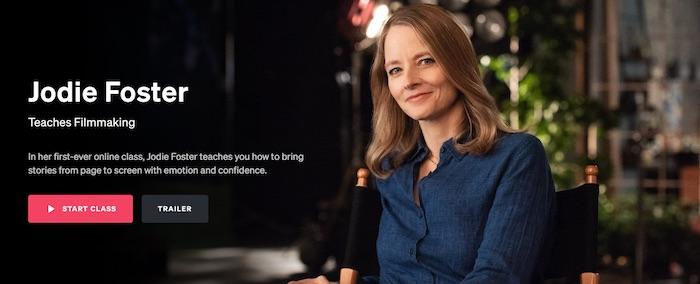 Jodie Foster Teaches Filmmaking