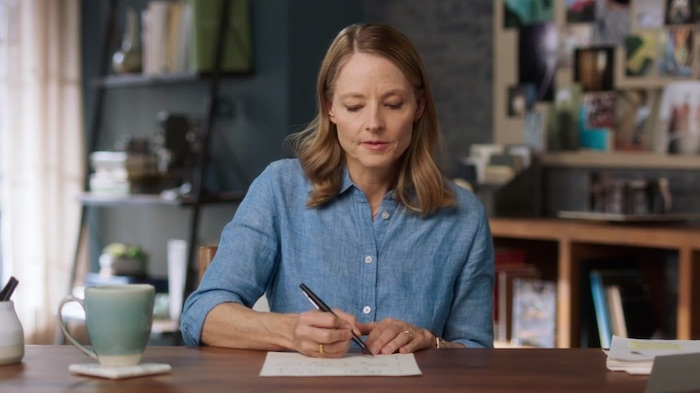 Jodie Foster working on a draft