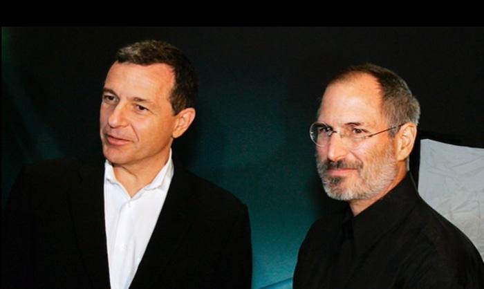 Bob Iger with Steve Jobs