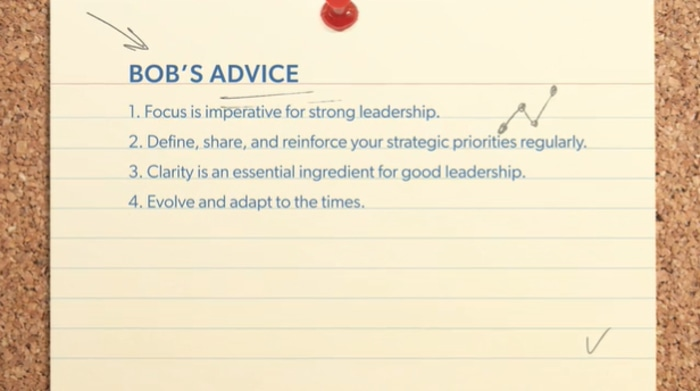 Bob Iger's advice on strategy and leadership