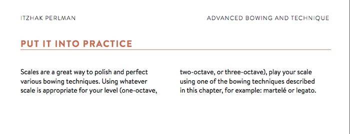 Itzhak Perlmans practice guide