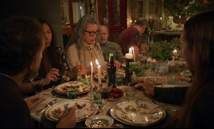 Nancy Silverton eating at home