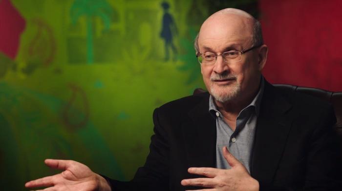 Salman Rushdie in his MasterClass