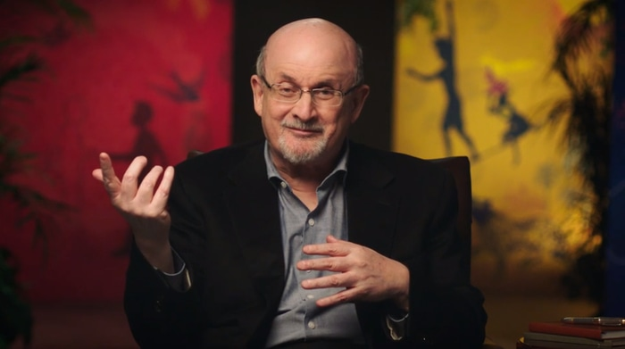 Salman Rushdie teaching his MasterClass