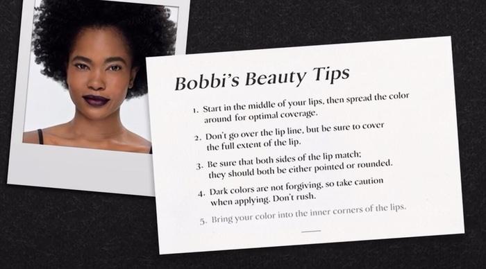Bobbi's beauty tips
