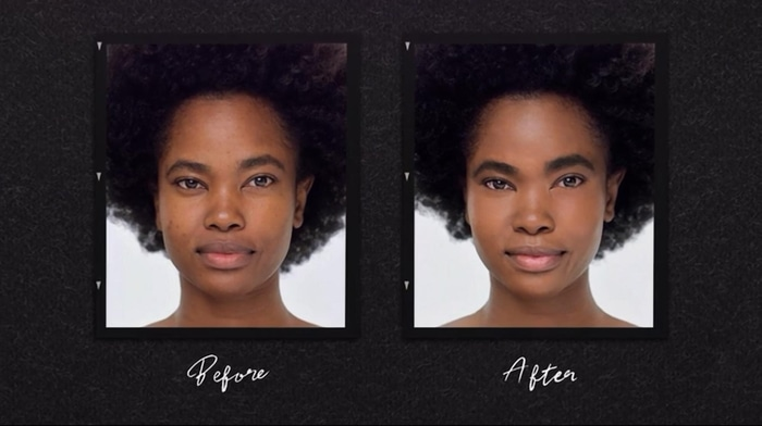 Bobbi Brown makeup before and after