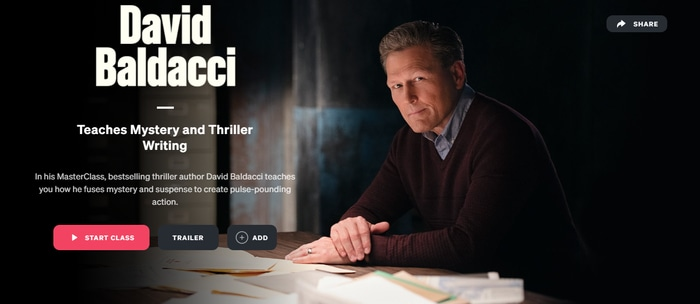 David Baldacci Teaches Mystery and Thriller Writing