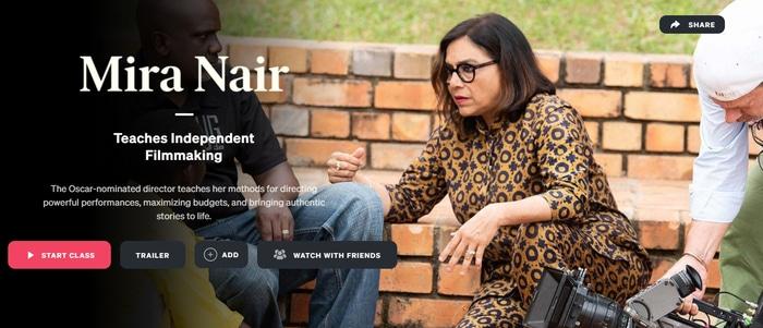 Mira Nair filmmaking MasterClass