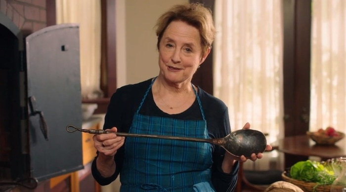 Alice Waters sharing her cooking philosophy