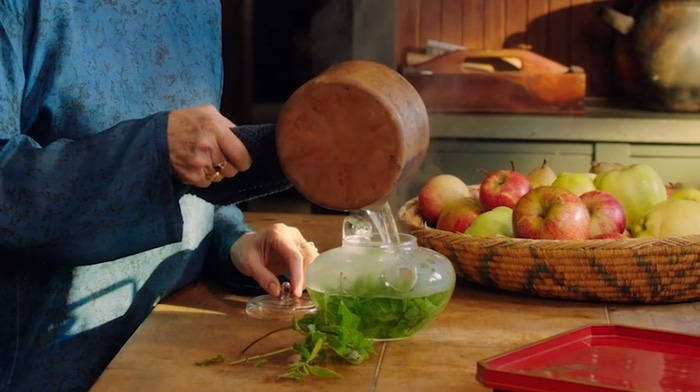 Alice Waters cooking