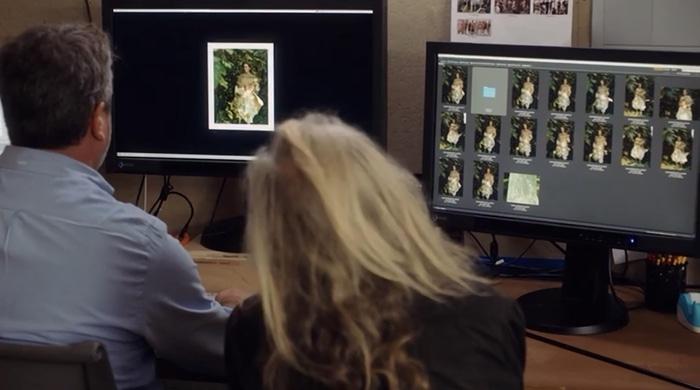 Annie Leibovitz editing