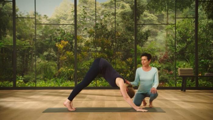 Donna Farhi teaching yoga