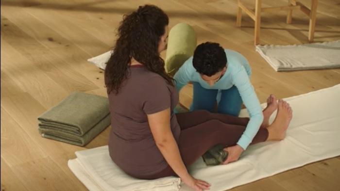 Donna Farhi on yoga blocks
