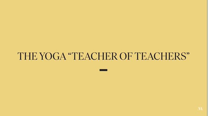 Donne Farhi teaches yoga foundations