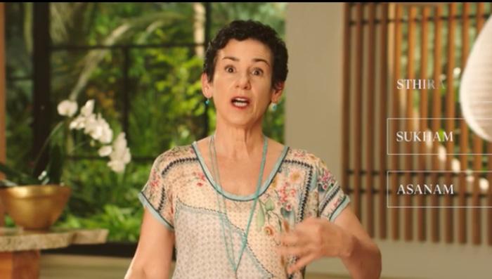 Donna Farhi teaches yoga