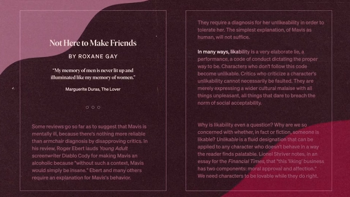 Roxane Gay - Not Here To Make Friends