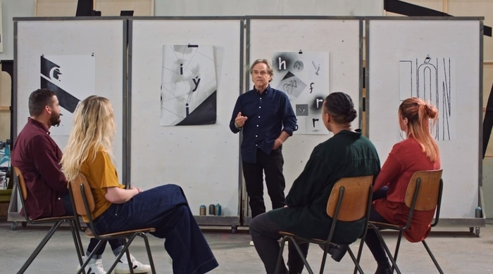 David Carson teaching graphic design