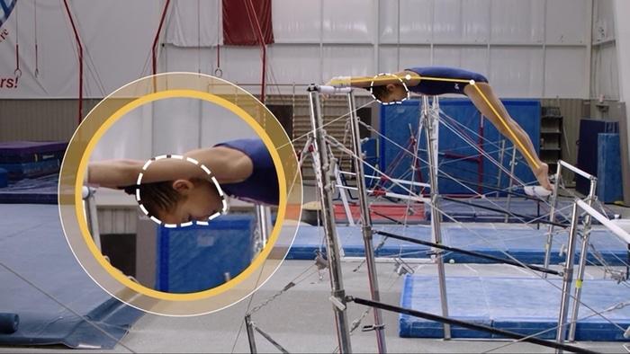 Simone Biles teaching gymnastics