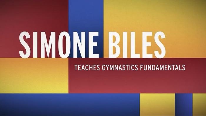 Simone Biles teaches gymnastic fundamentals