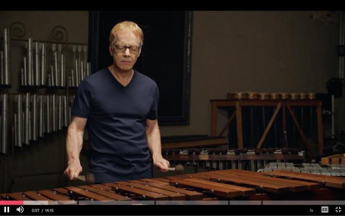 Elfman playing music