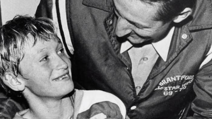 Wayne Gretzky as a young man
