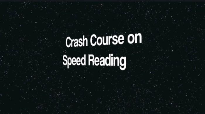 Crash course on speed reading