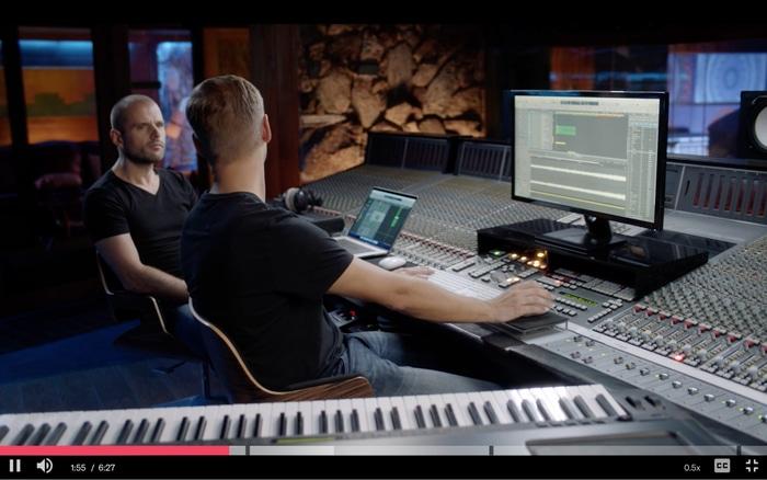 Armin van Buuren in the studio