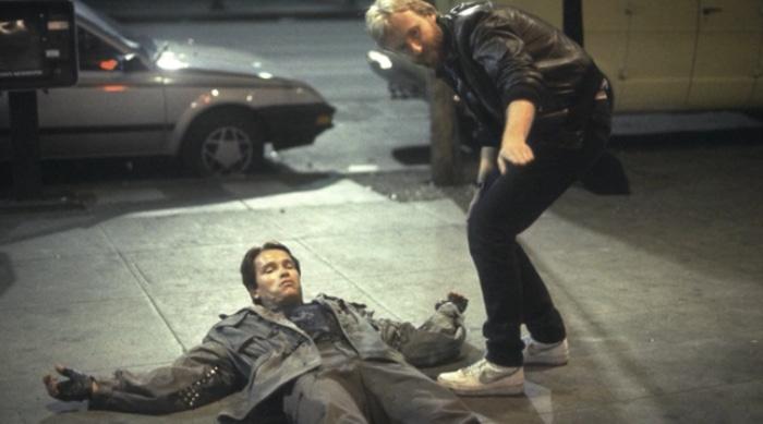 James Cameron directing Terminator