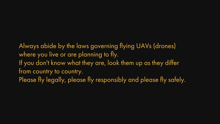 Rules for drone cameras