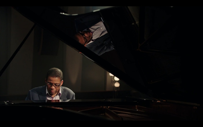 Herbie Hancock playing piano in his MasterClass