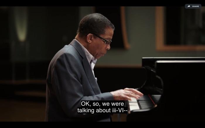 Herbie Hancock teaches jazz