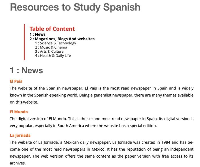 MosaLingua resources