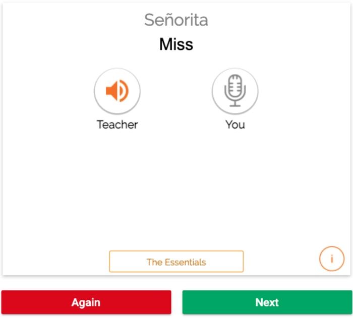 MosaLingua flashcard review