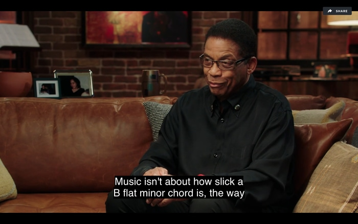 Herbie Hancock Teaches a Jazz Concept
