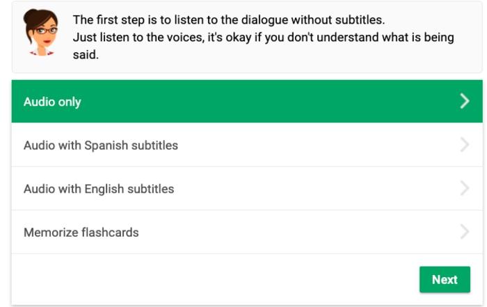 MosaLingua dialogues